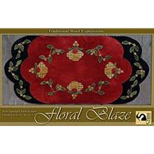 Floral Blaze Wool Applique Pattern