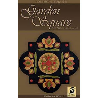 Garden Square Wool Applique Pattern