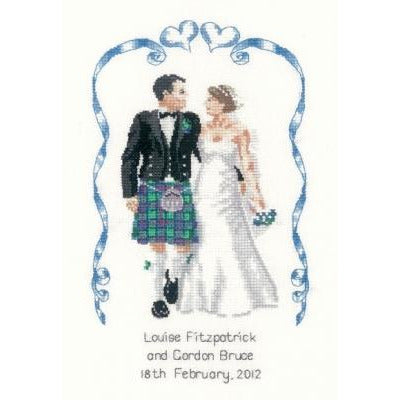 Scottish Wedding Celebration by Peter Underhill Cross Stitch Kit