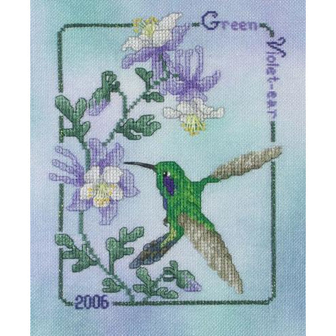Hummingbird Collection - 2006 Green Violet-ear Pattern