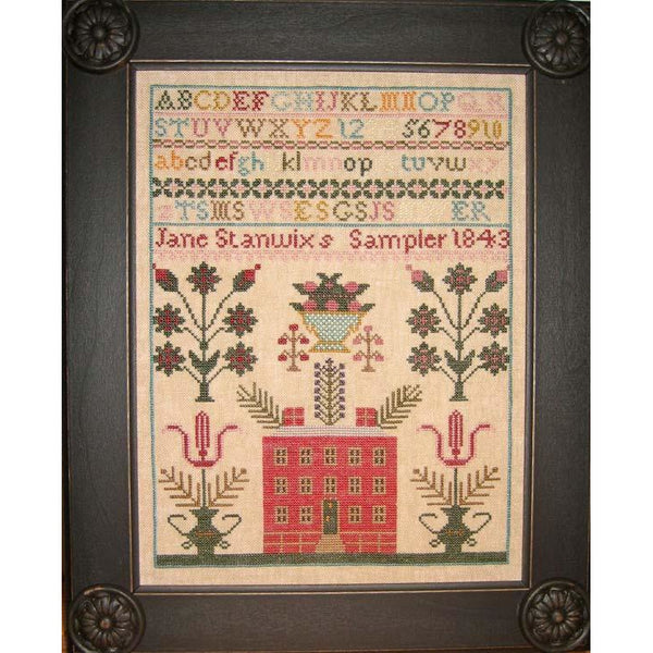 Jane Stanwix 1843 Reproduction Sampler Pattern