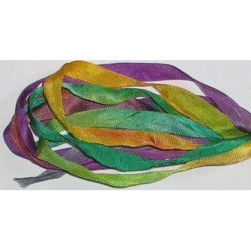 7mm Silk Ribbon ~ Mardi Gras