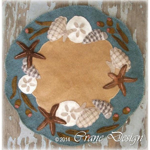 Ocean Breeze Table Mat Wool Applique Pattern