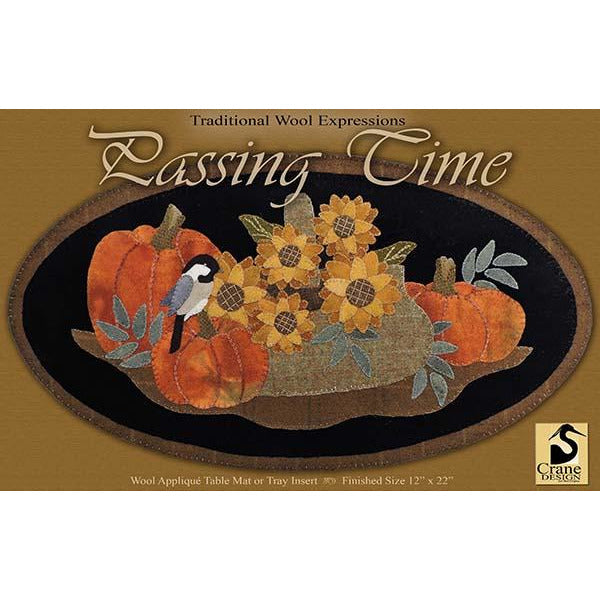 Passing Time Wool Applique Pattern