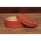 Red Shaker Oval Needlework Box #3