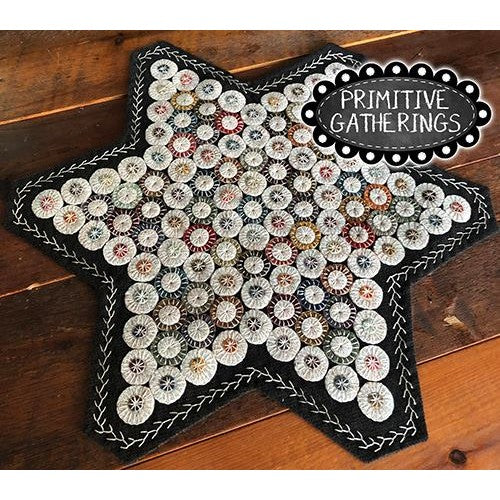 Star Penny Mat Wool Applique Kit