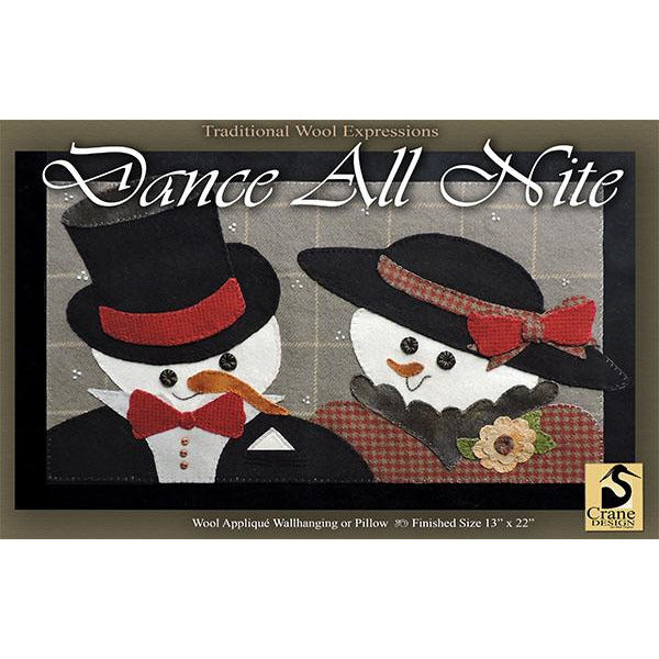 Dance All Nite Wool Applique Pattern