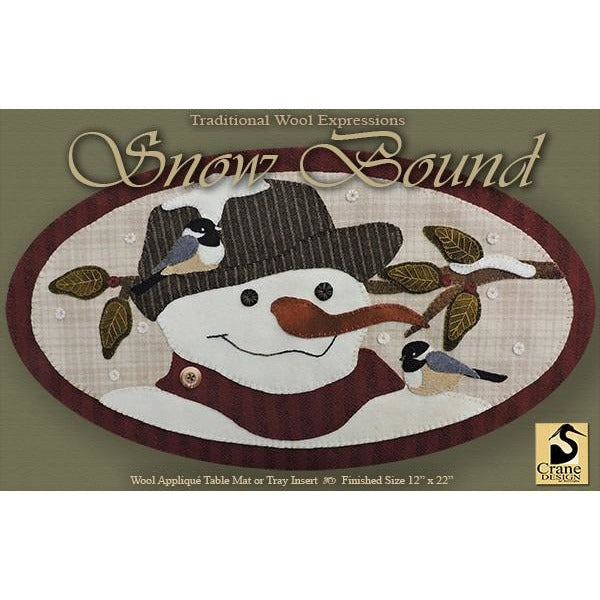 Snow Bound Wool Applique Pattern