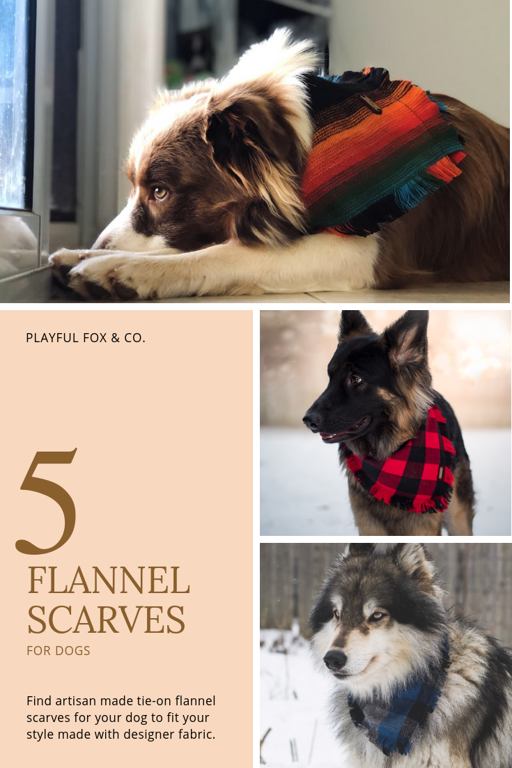 5 Tie-On Flannel Bandanas