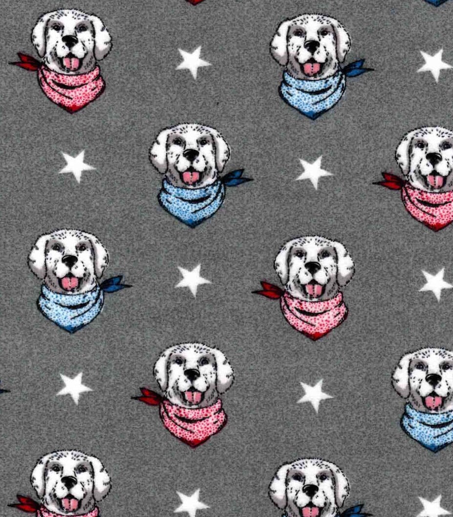 4th of July Pups Luxe Tie-On Bandana