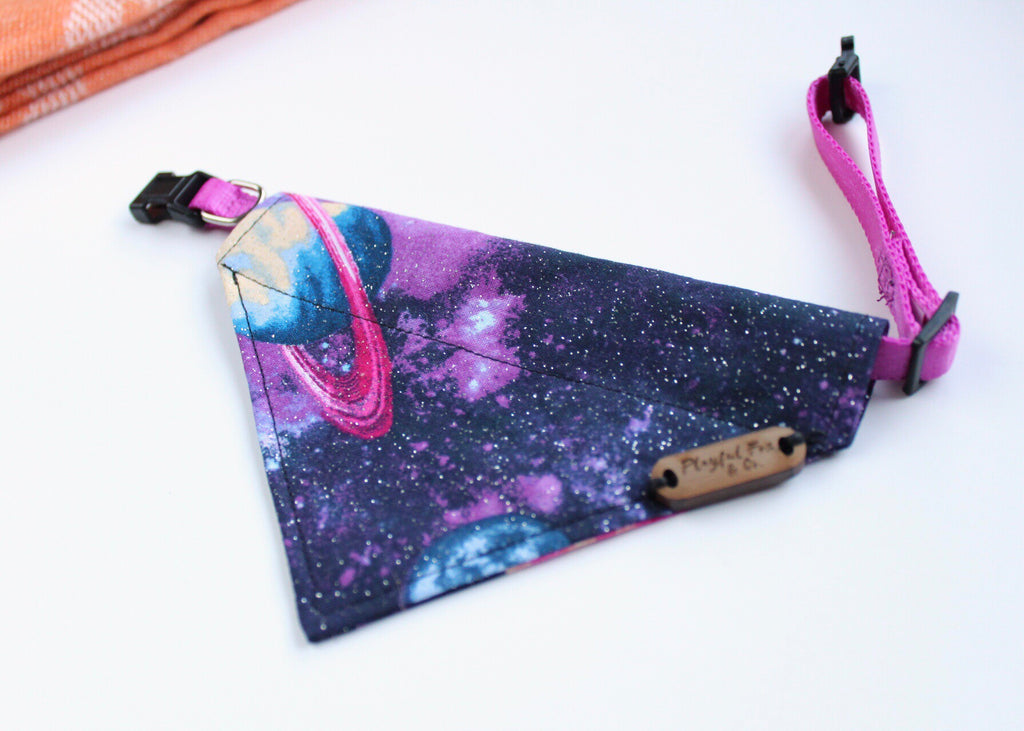 Galaxy Over-The-Collar Pet Bandana