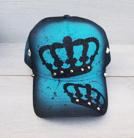 Crown Hand Painted Snapback Hat