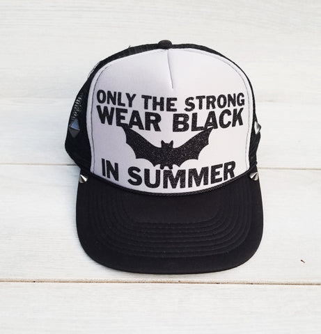 Black In Summer Foam Trucker