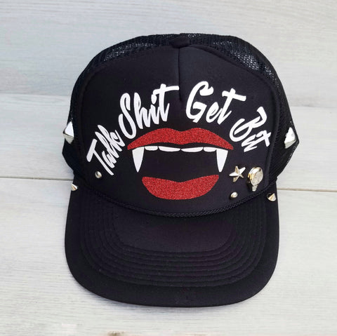 Talk Shit Get Bit Vampire Foam Trucker