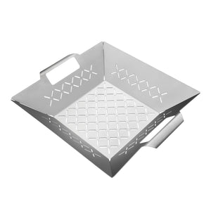 Unicook Stainless Steel Square Grill Topper 12 x 12 inch