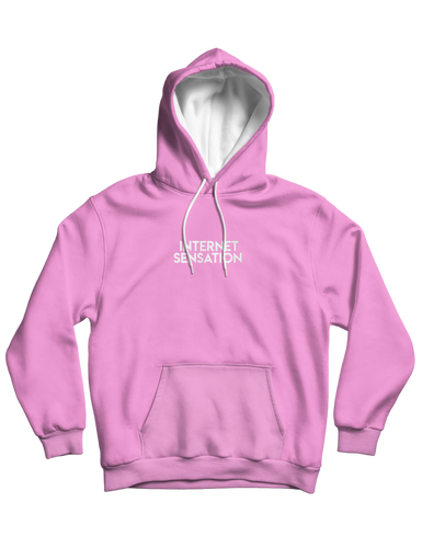Internet Sensation Pink Embroidered Hoodie