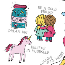 Load image into Gallery viewer, dream-big-unicorn-print-for child
