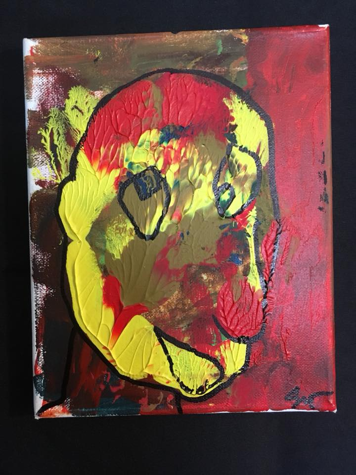 Scott Jeffries Painting: Fun Guy Face