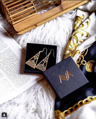 Instagram user @pinnchie with Aadra Arrow Gold Earrings