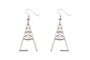 Aadra Collection wicked pearl white earrings white background
