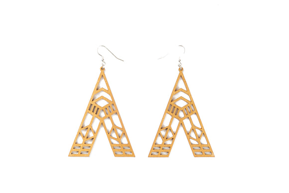 Abstract Earrings - Gold