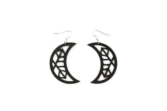 Moon Earrings - Black