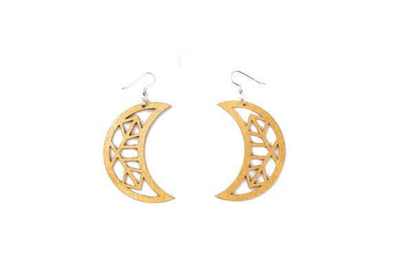 Moon Earrings - Gold