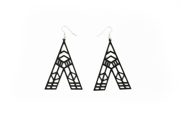 Abstract Earrings - Black
