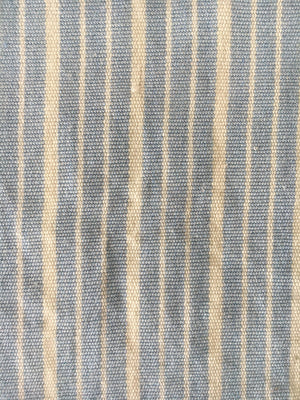 FABRIC CORNFLOWER BLUE STRIPES HANDWOVEN ORGANIC COTTON