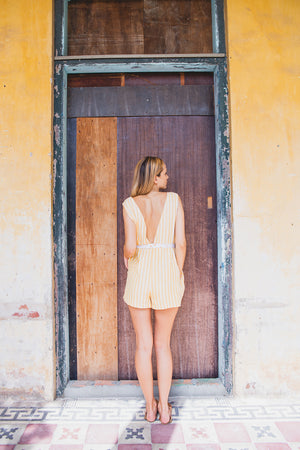 SIENNA PLAYSUIT SUNRISE YELLOW BACK