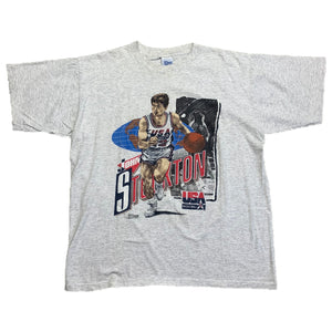 1992 John Stockton USA Salem Tee