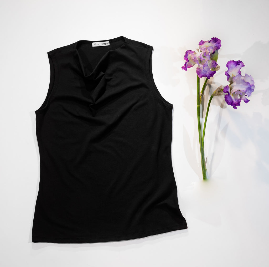 Sustainable cowl tank made in Vancouver, BC, Canada
