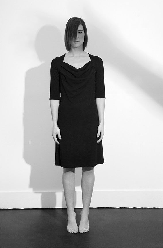 Sustainable Imbue Dress made from viscose from bamboo in Vancouver, BC Canada.