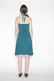 Sustainable bamboo dress made in Vancouver, BC Canada.  Back.