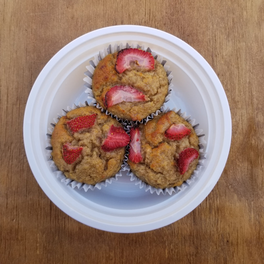Paleo Strawberry Banana Muffins