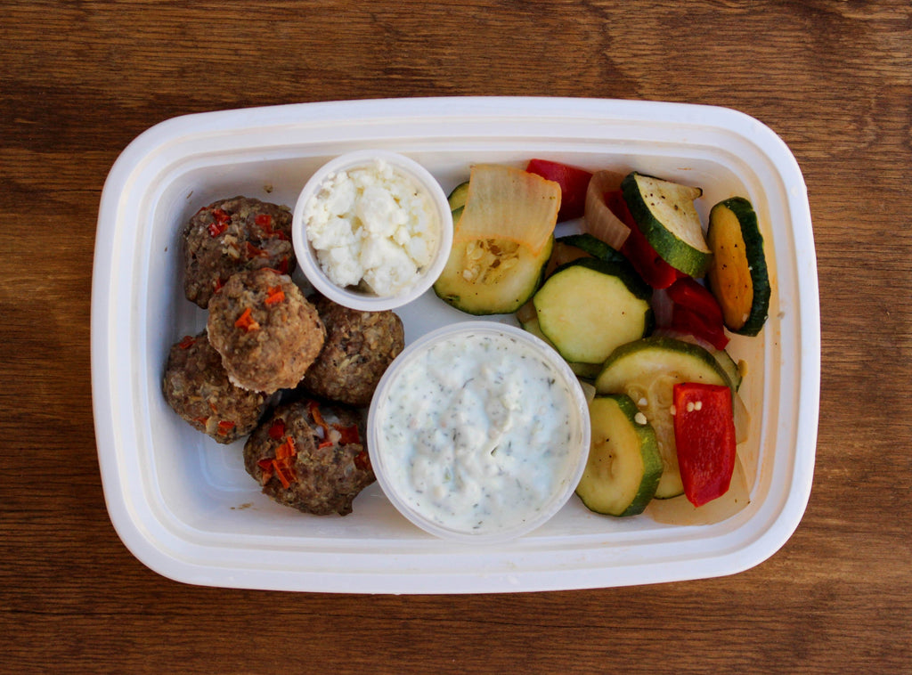 Greek Meatballs & Veggies with Tzatziki