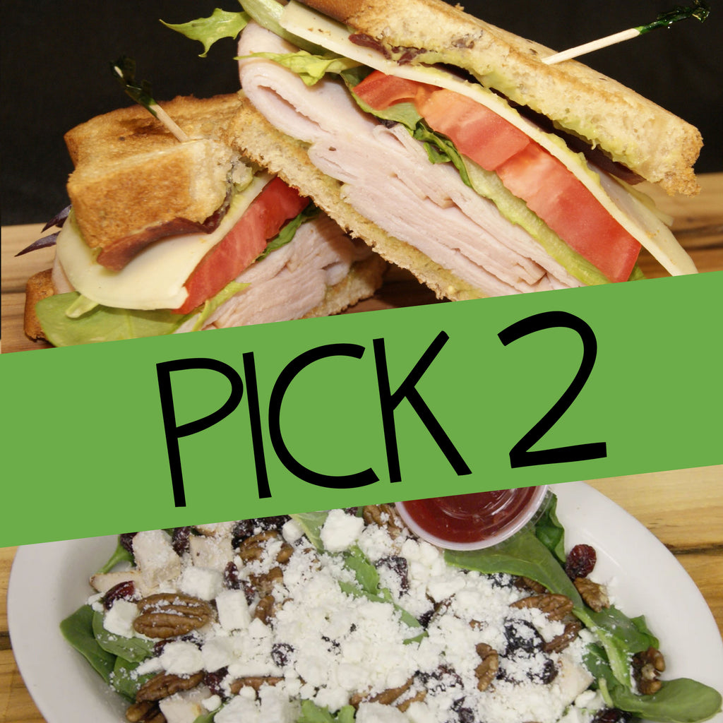 Pick 2: Sandwich, Wrap, Salad, Soup