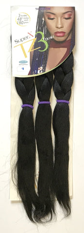 "Super X TZ3 - Teased 3 Bundles Braids - 48"" - beautygiantusa.com"