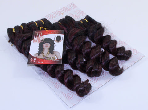 "Beverly Hill's New French Twist 4 Pieces (8"", 10"", 12"", 14"") - beautygiantusa.com"