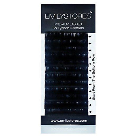 EMILYSTORES Eyelash Extensions 0.15  Thickness C Curl Silk Mink Fake - beautygiantusa.com
