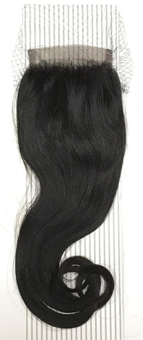 "4 by 13"" VIP Lace Frontals 16"" Indian Natural Black - beautygiantusa.com"