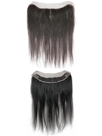 "4 by 13"" VIP Lace Frontals 16""Peruvian Straight Natural Black - beautygiantusa.com"
