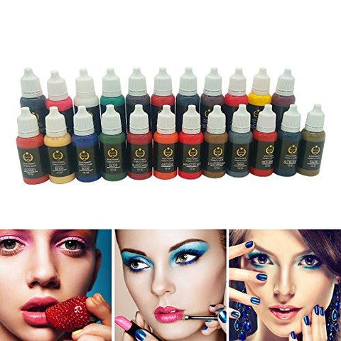 Permanent Makeup tattoo ink pigment 15ml/bottle for eyebrow make up Permanent body makeup lip ink tattoo machine beauty tools - BeautyGiant USA