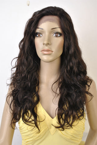 "Swiss Lace Wig. 100% Virgin Human Hair. Body Wave texture. 20"" Long. - beautygiantusa.com"
