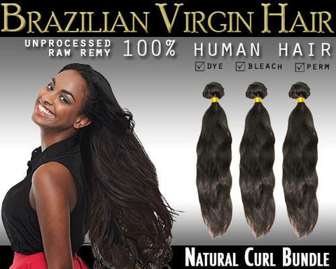 VIP Collection Brazilian Virgin Hair / Naturl Curl Bundles - VIP Extensions