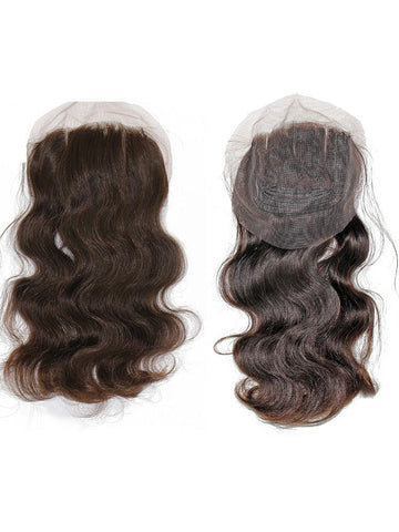 VIP Collection 3 Part Brazilian Virgin Natural Lace Closure in Natural Curl or Body Curl - beautygiantusa.com