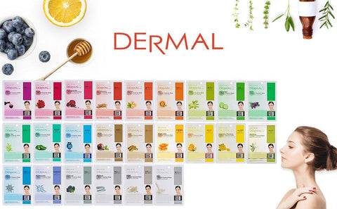 DERMAL Collagen Essence Full Face Facial Mask Sheet - beautygiantusa.com