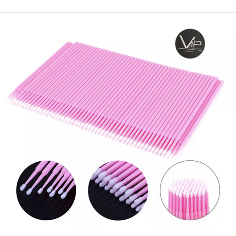 VIP Eyelash accessories - Micro Brushes (100 pcs/bottle) - BeautyGiant USA