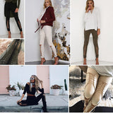 LoveMe™ Collection - Suede Slim Lace Up Leggings