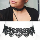 The Queen White & Black Lace Choker